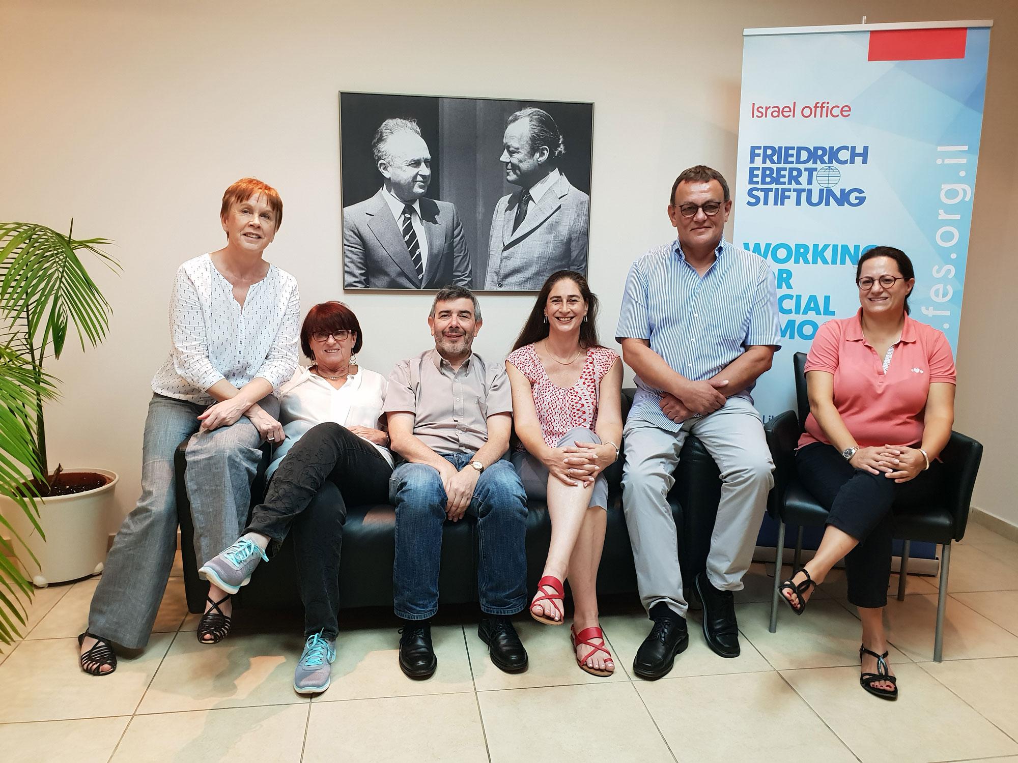 طاقم مؤسسة فريدريش إيبرت ، إسرائيل ، أغسطس 2018