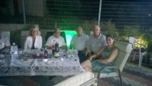 Lene Bjoernkjaer-Lewentz, Roger Lewentz, Ilan Sadeh (Regional Council Menashe), Riad Kabha (Givat Haviva), Judith Stelmach (FES Israel)