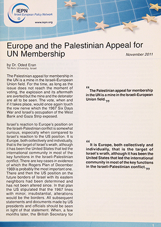 Europe and Palestinian Appeal to UN