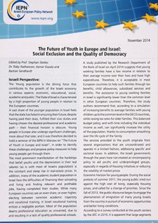 Future of Youth in Europe and in Israel-Social Exclusion and the Quality of Democracy
